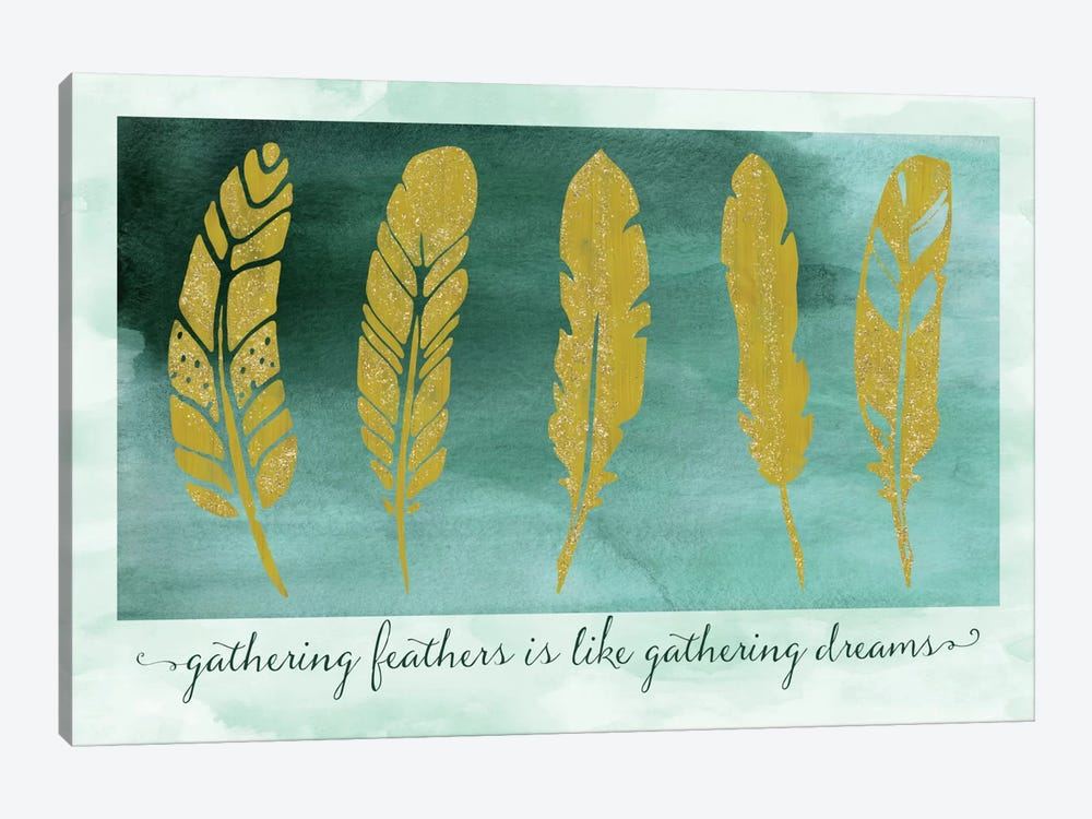 Gathering Feathers by Tina Lavoie 1-piece Canvas Artwork