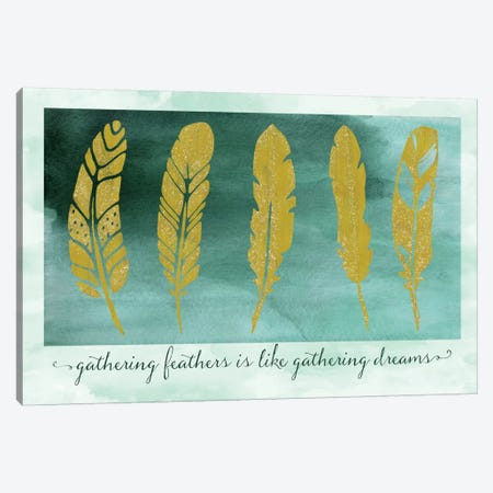 Gathering Feathers Canvas Print #TLA6} by Tina Lavoie Canvas Art Print