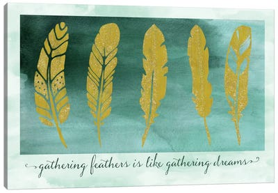 Gathering Feathers Canvas Art Print
