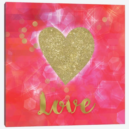 Glitter Love Canvas Print #TLA8} by Tina Lavoie Canvas Artwork