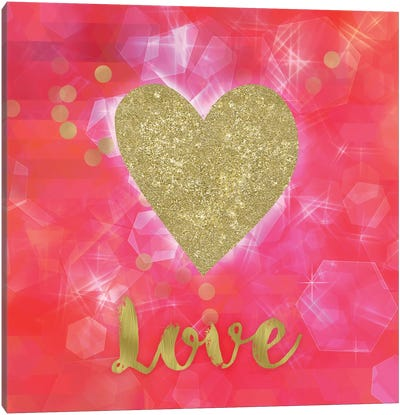 Glitter Love Canvas Art Print