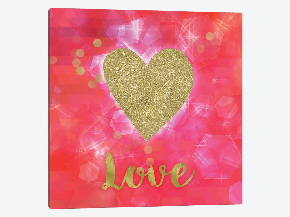 Glitter Love 1-piece Canvas Art