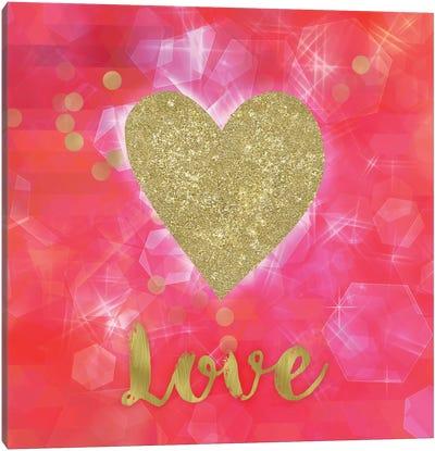 Glitter Love Canvas Art Print