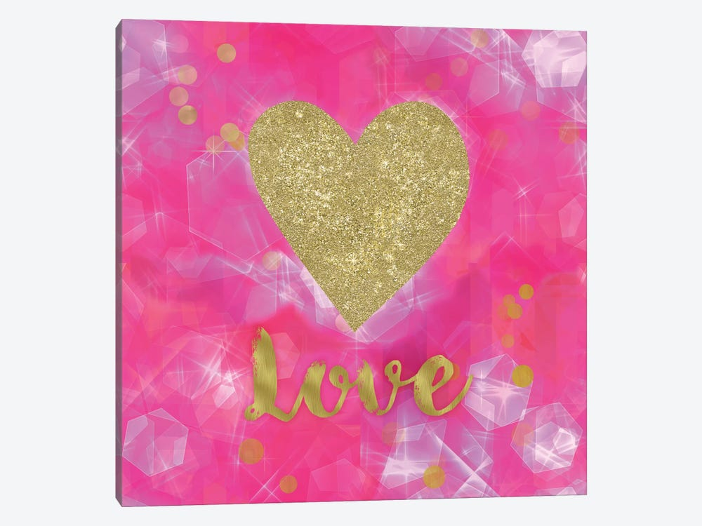 Glitter Love Pink by Tina Lavoie 1-piece Art Print
