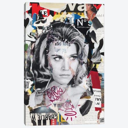 Jane Fonda Canvas Print #TLL13} by TOMADEE Canvas Artwork