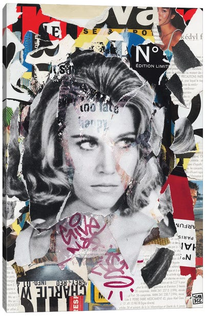 Jane Fonda Canvas Art Print