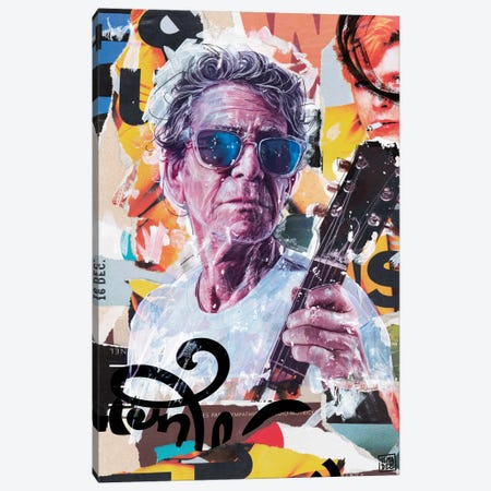 Lou Reed Canvas Print #TLL16} by TOMADEE Canvas Art Print