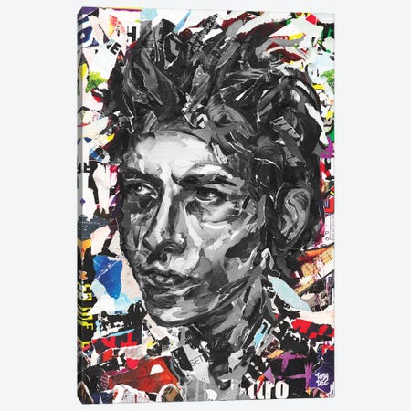 Bob Dylan Canvas Print #TLL27} by TOMADEE Canvas Wall Art