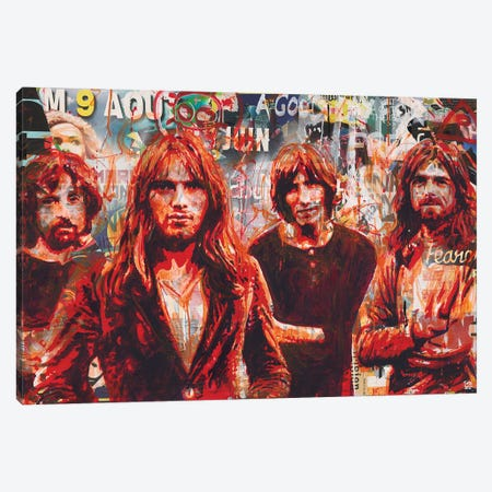 Pink Floyd Canvas Print #TLL36} by TOMADEE Canvas Print