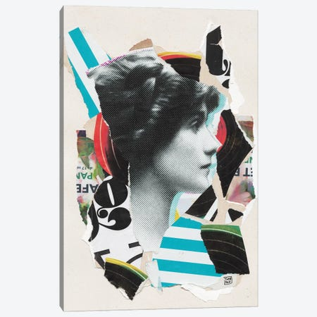 Coco Chanel Canvas Print #TLL8} by TOMADEE Art Print