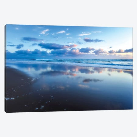 Blue Shores Canvas Print #TLO2} by Tracie Louise Canvas Artwork