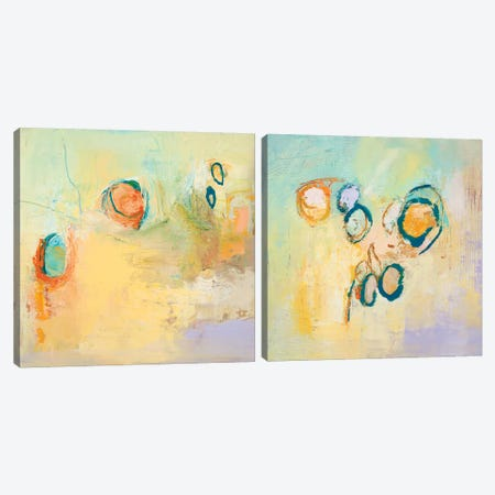 Secret Sweeping Sky Circles Diptych Canvas Print Set #TLP2HSET001} by Tracy Lynn Pristas Art Print