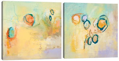 Secret Sweeping Sky Circles Diptych Canvas Art Print