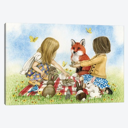 Tea Party Canvas Print #TLZ100} by Tracy Lizotte Art Print