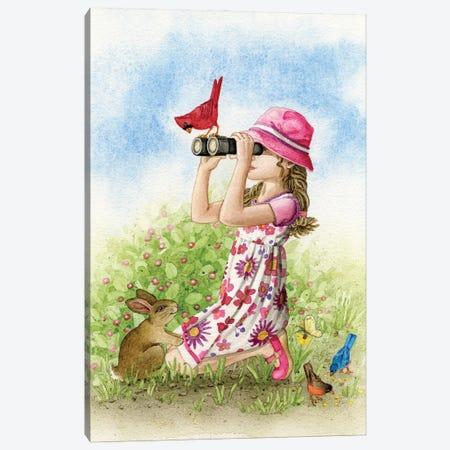 Bird Watching Canvas Print #TLZ101} by Tracy Lizotte Art Print