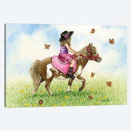 Pony Ride Canvas Print #TLZ102} by Tracy Lizotte Art Print