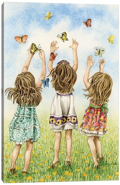 Chasing Butterflies Canvas Art Print