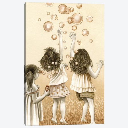 Bubbles Canvas Print #TLZ11} by Tracy Lizotte Canvas Artwork