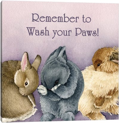 Bunny Bathtime Canvas Art Print