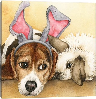 Bunny Friends Canvas Art Print