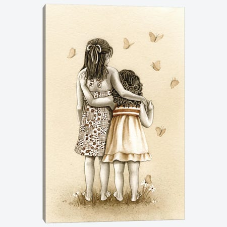 Butterflies Canvas Print #TLZ14} by Tracy Lizotte Art Print