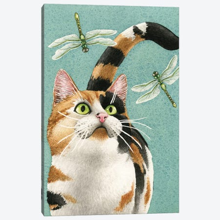 Catch Me If You Can Canvas Print #TLZ18} by Tracy Lizotte Canvas Artwork
