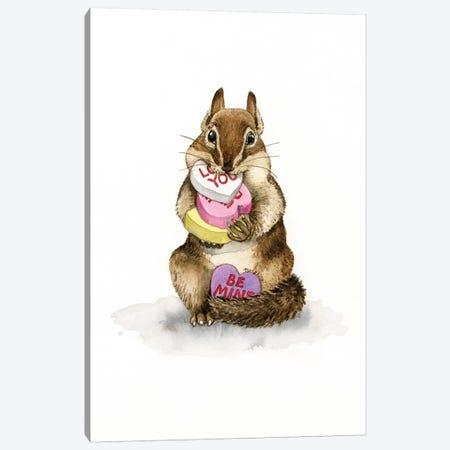 Chipmunk Love Canvas Print #TLZ21} by Tracy Lizotte Art Print