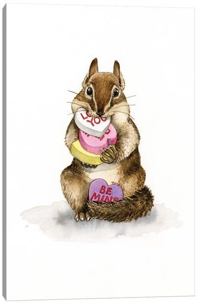 Chipmunk Love Canvas Art Print