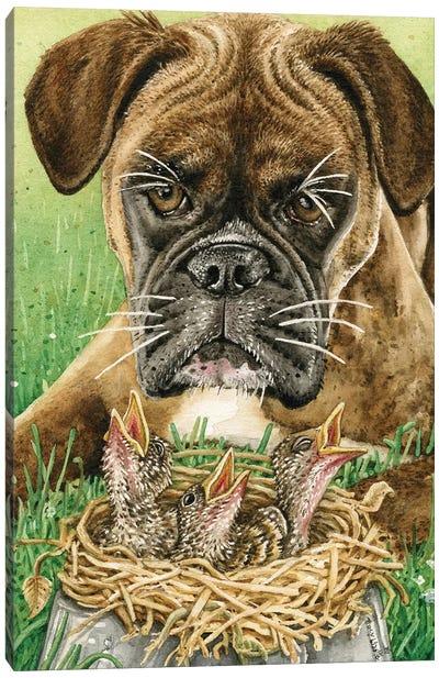 Dog Dish Dilemma Canvas Art Print