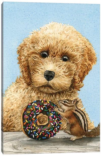 Donut Thief Canvas Art Print