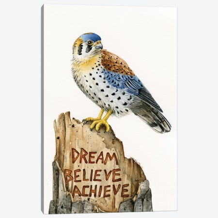 Dream Believe Achieve Canvas Print #TLZ28} by Tracy Lizotte Art Print