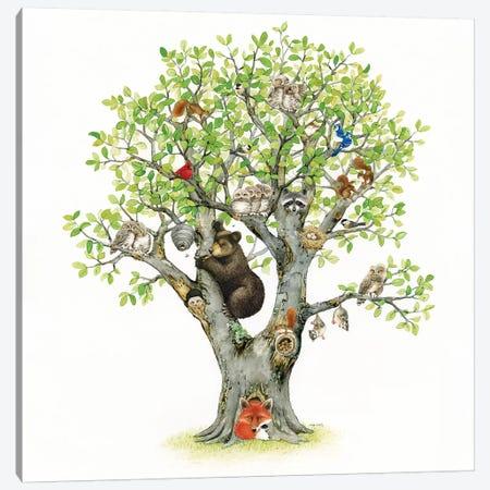 Animal Tree Canvas Print #TLZ2} by Tracy Lizotte Canvas Art