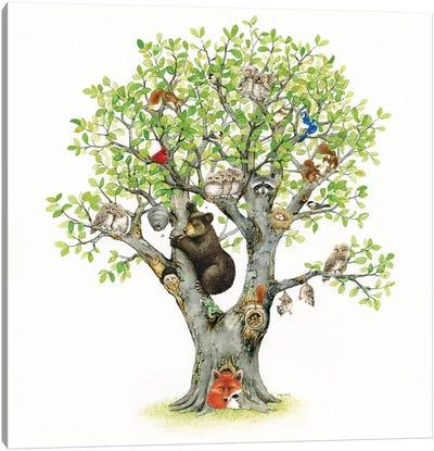 Animal Tree Canvas Art Print