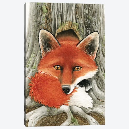 Fox Hole Canvas Print #TLZ33} by Tracy Lizotte Canvas Artwork