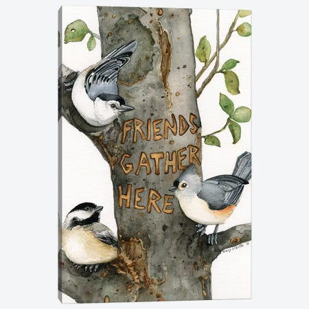 Friends Gather Here Canvas Print #TLZ35} by Tracy Lizotte Canvas Print