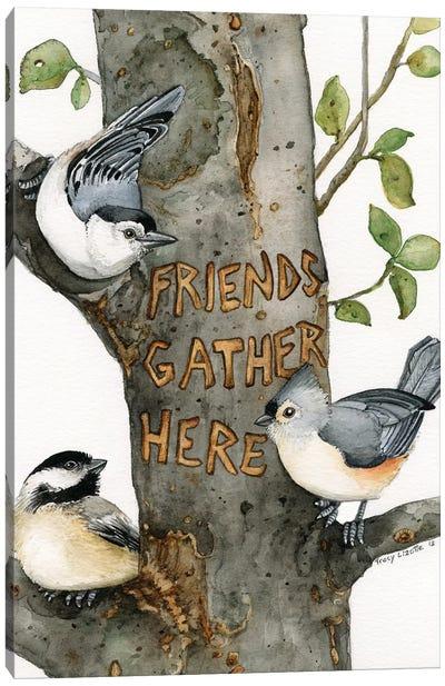 Friends Gather Here Canvas Art Print