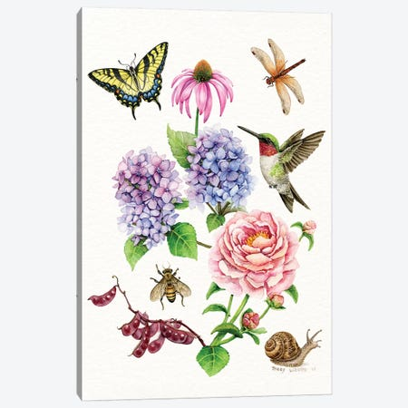 Garden Collection Canvas Print #TLZ37} by Tracy Lizotte Canvas Print