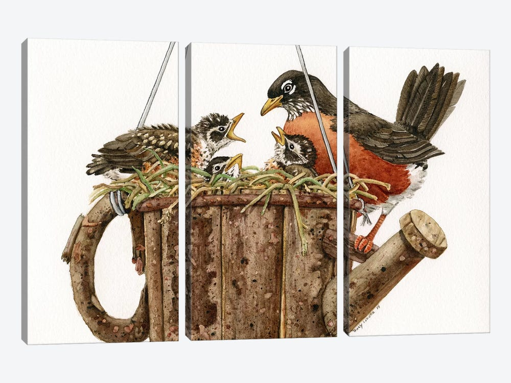 Garden Living by Tracy Lizotte 3-piece Canvas Print
