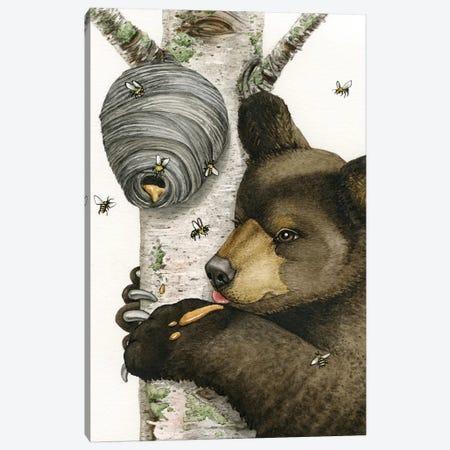 Honey Bear Canvas Print #TLZ44} by Tracy Lizotte Canvas Wall Art