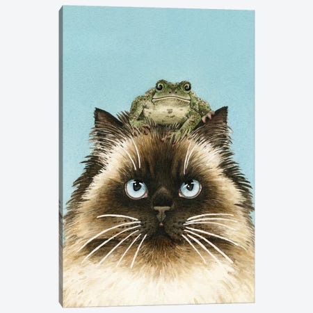 Hopping Mad Canvas Print #TLZ45} by Tracy Lizotte Canvas Artwork