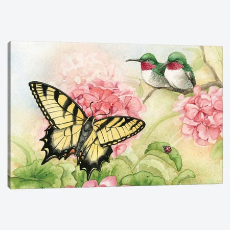Humingbird Garden I Canvas Print #TLZ46} by Tracy Lizotte Canvas Artwork