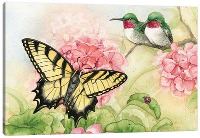 Humingbird Garden I Canvas Art Print