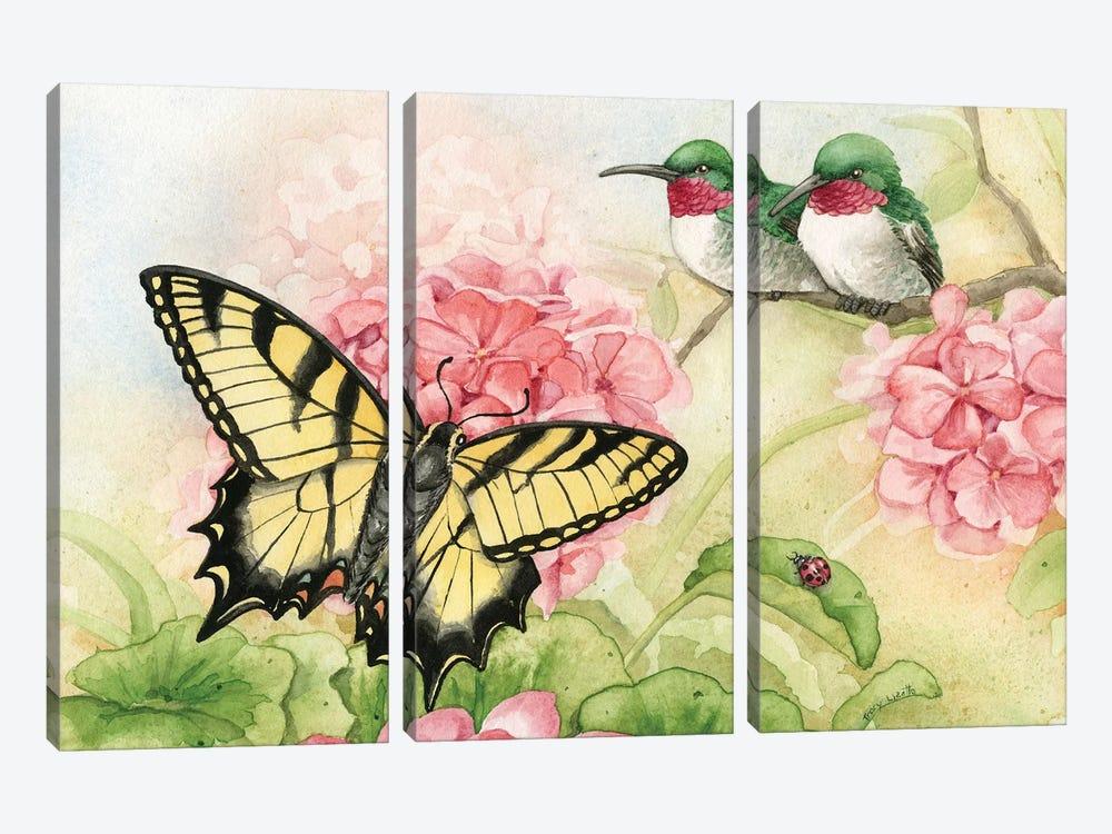 Humingbird Garden I by Tracy Lizotte 3-piece Canvas Wall Art