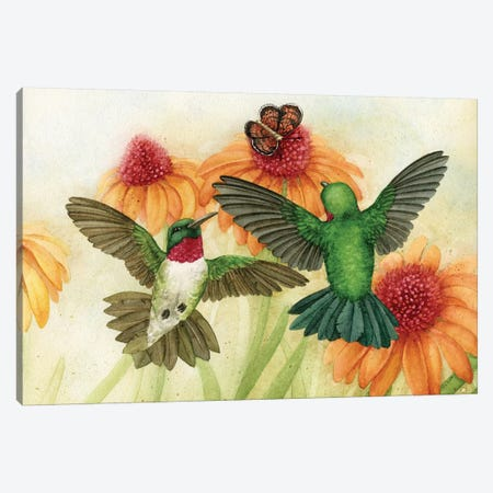 Humingbird Garden II 3-Piece Canvas #TLZ47} by Tracy Lizotte Canvas Art