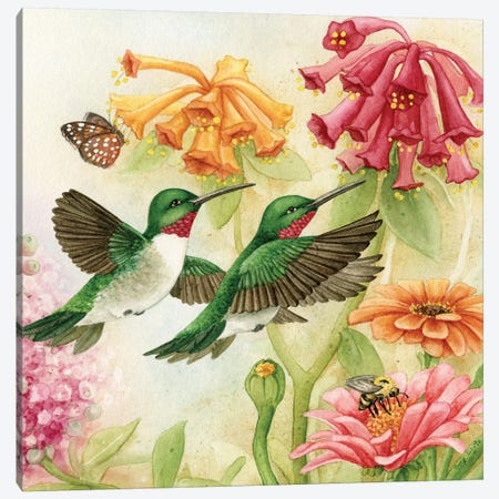 Humingbird Garden III Canvas Print #TLZ48} by Tracy Lizotte Canvas Art Print