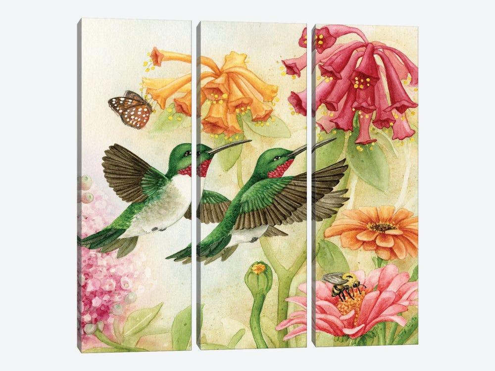 Humingbird Garden III by Tracy Lizotte 3-piece Canvas Wall Art