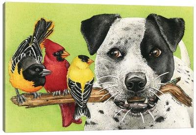 Lets Play Fetch Canvas Art Print