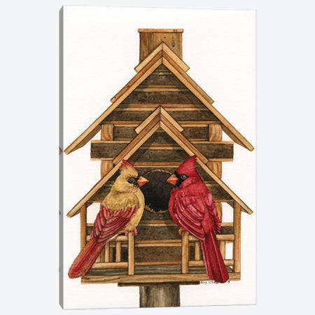 Log Home Living Canvas Print #TLZ53} by Tracy Lizotte Canvas Wall Art