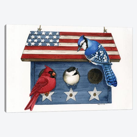Patriotic Living 3-Piece Canvas #TLZ59} by Tracy Lizotte Canvas Wall Art