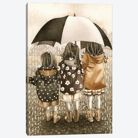 Rainy Day Canvas Print #TLZ65} by Tracy Lizotte Canvas Wall Art